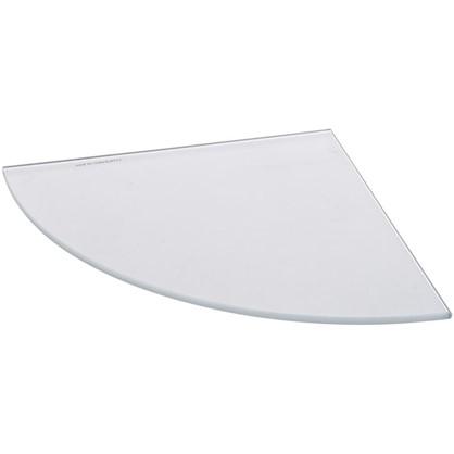 Полка мебельная закругленная секторальная 300х300х6 мм матовое стекло