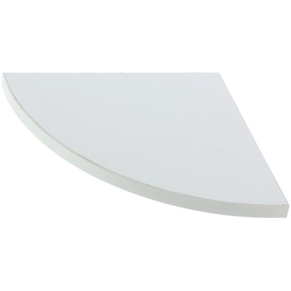 Полка мебельная закругленная секторальная 350x350x16 мм ЛДСП цвет белый