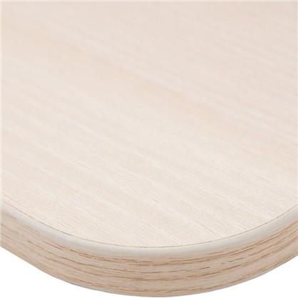 Купить Полка мебельная закругленная угловая 600x250х16 мм ЛДСП цвет акация светлая дешевле