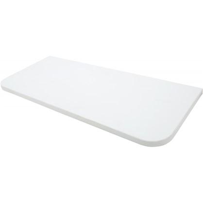 Полка мебельная закругленная угловая 600x250х16 мм ЛДСП цвет белый премиум