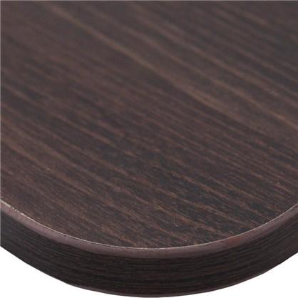 Полка мебельная закругленная угловая 600x250х16 мм ЛДСП цвет дуб термо темный