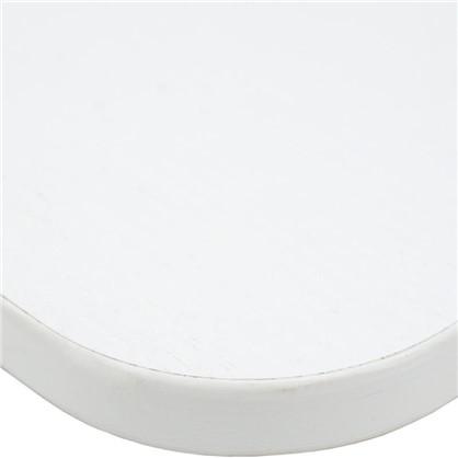 Полка мебельная закругленная угловая 800x250х16 мм ЛДСП цвет белый премиум