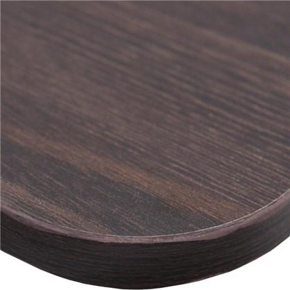 Полка мебельная закругленная угловая 800x250х16 мм ЛДСП цвет дуб термо темный