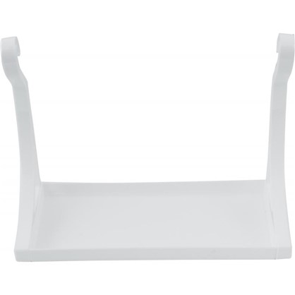 Полка настенная 280х210х120 см пластик цвет белый