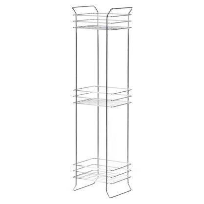 Полка отдельностоящая для ванной комнаты трехъярусная 19х15х70.5 см