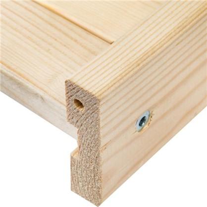 Полка прямая для стеллажа 740x486 мм дерево 1 шт.