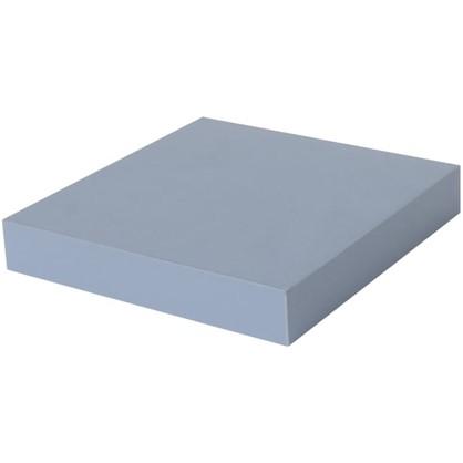 Полка прямоугольная 23х23 см МДФ сталь цвет голубой