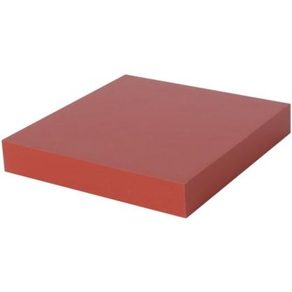 Полка прямоугольная 23х23 см МДФ сталь цвет красный