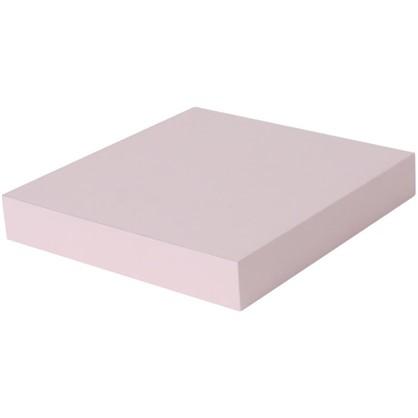 Полка прямоугольная 23х23 см МДФ сталь цвет розовый
