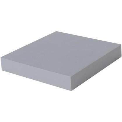 Купить Полка прямоугольная 23х23 см МДФ сталь цвет серый дешевле