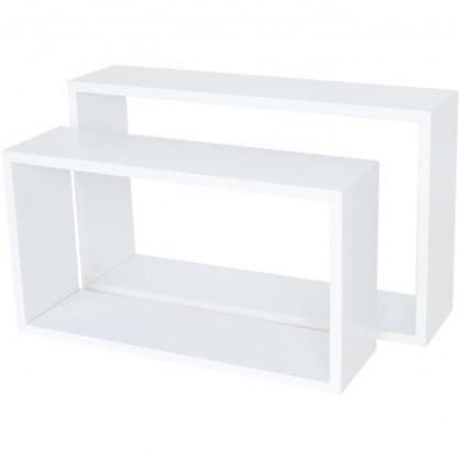 Полка прямоугольная 45х27 см/40х22 см цвет белый 2 шт.