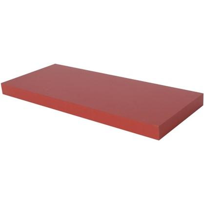 Купить Полка прямоугольная 60х60 см МДФ сталь цвет красный дешевле
