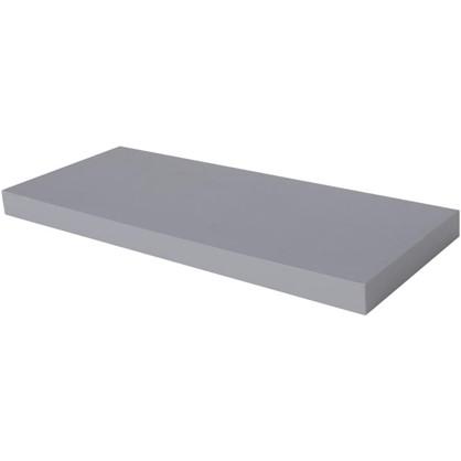 Полка прямоугольная 80х80 см МДФ сталь цвет серый