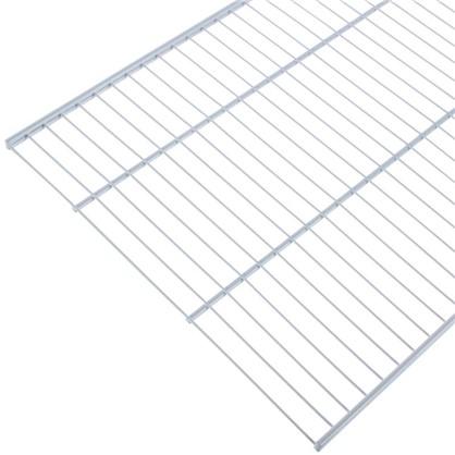 Купить Полка сетчатая Larvij 603х406 мм цвет белый дешевле