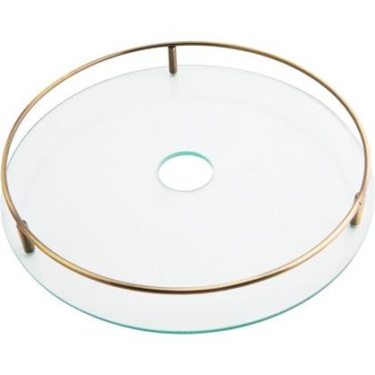 Полка стеклянная 350 мм цвет бронза