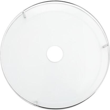 Полка стеклянная 350 мм цвет хром