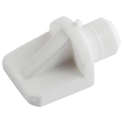 Купить Полкодержатель мебельный лопатка 7 мм пластмасса цвет белый 16 шт. дешевле