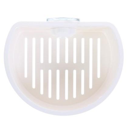 Полочка овальная Grampus на вакуумной присоске материал пластик