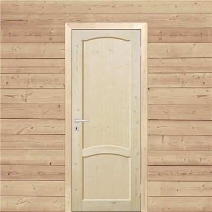 Полотно дверное глухое 80x200 см массив хвои цвет натуральный