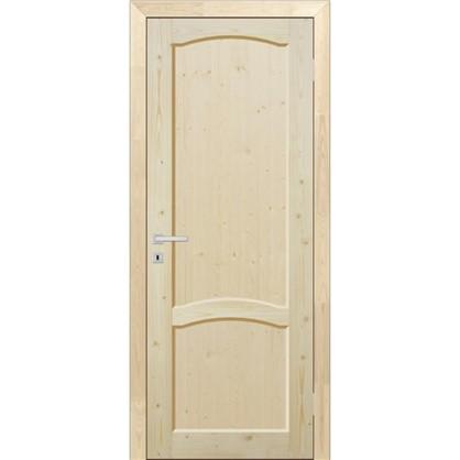 Полотно дверное глухое 90x200 см массив хвои цвет натуральный
