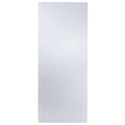 Купить Полотно дверное глухое Аликанте 200х60 см цвет белый дешевле