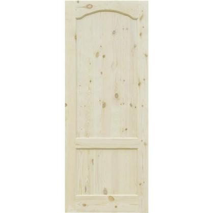 Полотно дверное глухое арочное с филенкой 60x200 см хвоя цвет натуральный