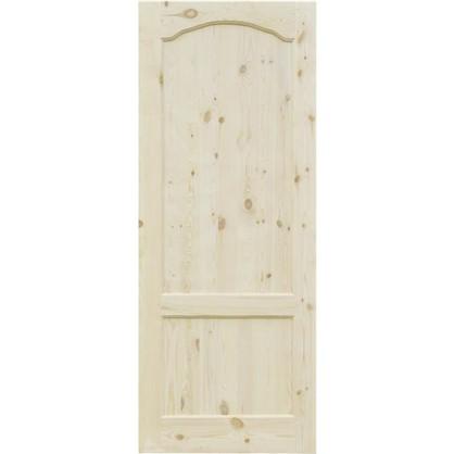 Полотно дверное глухое арочное с филенкой 70x200 см хвоя цвет натуральный