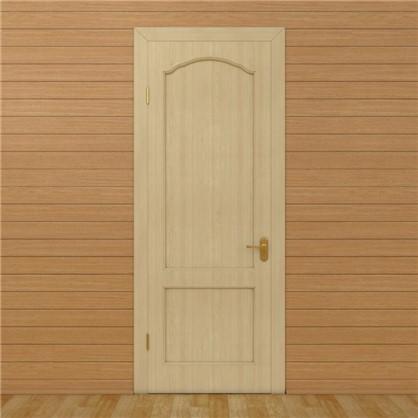 Полотно дверное глухое арочное с филенкой 90x200 см хвоя цвет натуральный