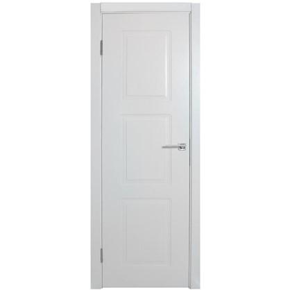Купить Полотно дверное глухое Британия 200х80 см цвет белый дешевле