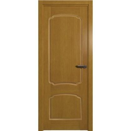 Полотно дверное глухое Helly 90x200 см шпон цвет тонированный дуб