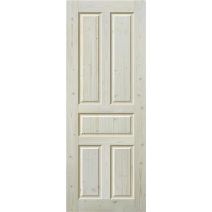 Полотно дверное глухое Кантри 90x200 см массив хвои цвет натуральный