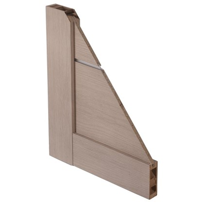 Полотно дверное глухое Мюнхен 80x200 см ламинация цвет дымчатый дуб 3D