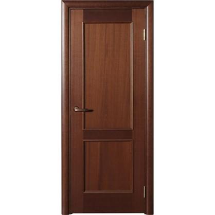 Полотно дверное глухое шпонированное Этерно 200x80 см цвет итальянский орех