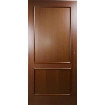 Полотно дверное глухое шпонированное Этерно 200x90 см цвет итальянский орех
