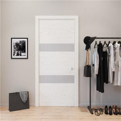 Полотно дверное глухое шпонированное Модерн 200х70 см цвет белый ясень