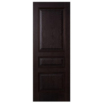 Полотно дверное глухое шпонированное Вельми 200х80 см цвет венге