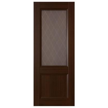 Полотно дверное остеклённое 3324 КД 21-10 танганика с фурнитурой