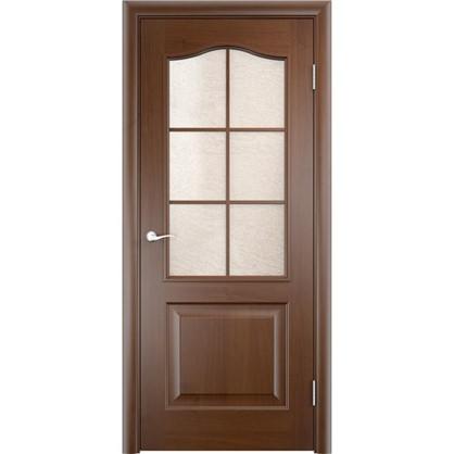 Полотно дверное остеклённое Антик 60x200 см ПВХ цвет дуб коньяк