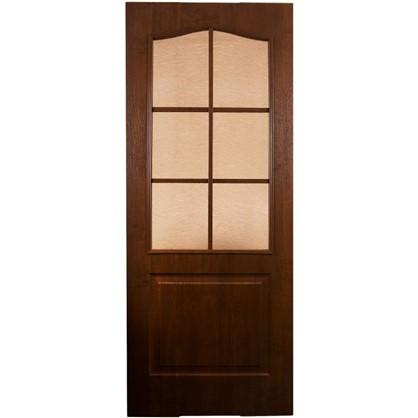 Купить Полотно дверное остеклённое Антик 80x200 см ПВХ цвет дуб коньяк дешевле
