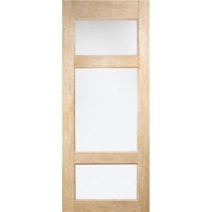 Полотно дверное остеклённое Антико 200х80 см цвет винтажный дуб