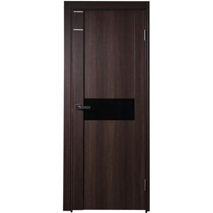 Полотно дверное остеклённое Artens Велдон 200x80 см цвет мокко