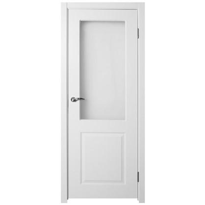 Полотно дверное остеклённое Австралия 200х90 см цвет белый