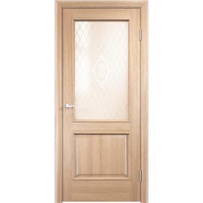 Полотно дверное остеклённое Барселона 200х60 см цвет дуб натуральный
