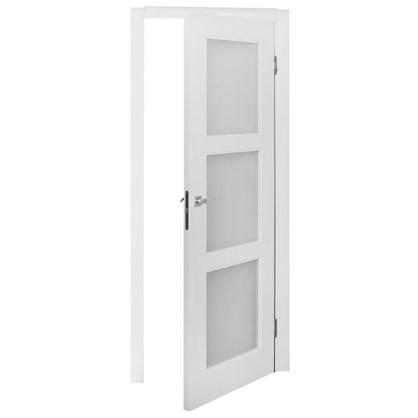 Полотно дверное остеклённое Британия 200х80 см цвет белый