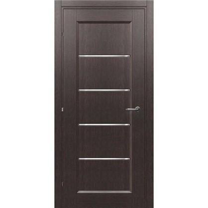 Полотно дверное остеклённое Candler 200х90 см цвет чёрный дуб