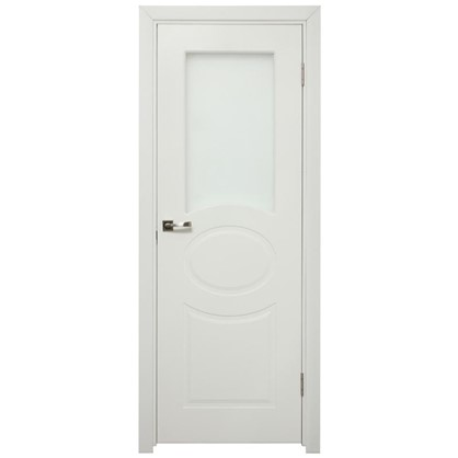 Полотно дверное остеклённое Дэлия 200х60 см цвет белый