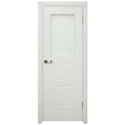 Полотно дверное остеклённое Дэлия 200х90 см цвет белый