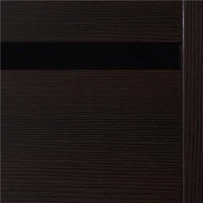 Полотно дверное остеклённое Duplex 90x200 см искусственный шпон цвет венге