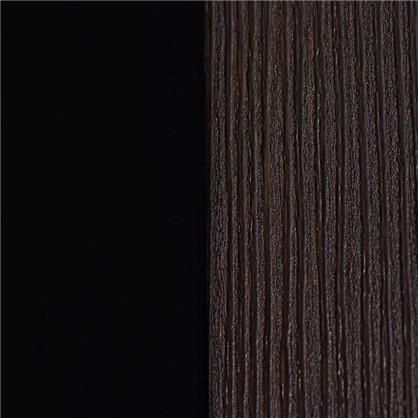 Полотно дверное остеклённое Фортуна 200х60 см цвет венге