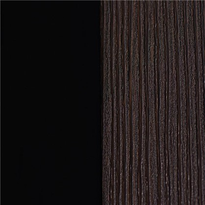 Полотно дверное остеклённое Фортуна 200х70 см цвет венге